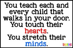 You teach each and e