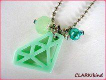 Kugelkette mit Diamant-Anhänger in Mint CLARKIkind