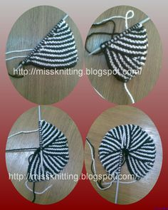 modular knitting | love doing this motif with two needles using short row. It is not ...