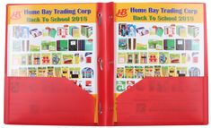 2 Pocket Plastic Folders with 3 Prong Fasteners (Red) (12)-US$27.99