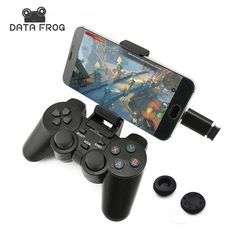 Production Description  1. 2.4G wireless gamepad, no Bluetooth. Compatible with PC, Android Mobile Phone, Android Pad, TV Box, Smart TV, PS3 console. Not compatible with iOS device. 2. Can be used as gamepad, wireless mouse, media controller, etc. 3. Supports Android 4.0 and up. 4. No vibration, mature 2.4G wireless transmission technology, remote control 8m no latency, no radiation, and a sense of human design. An ultra strong, automatic connection and connection instructions. 5.Use AA…