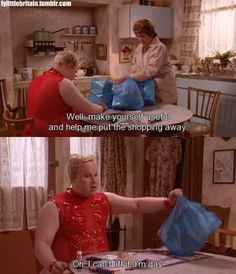 Little Britain is our favourite all-time sketch! Full of inappropriateness, offensive jokes, whacks. Stupid Memes, Funny Memes, Jokes, Little Britain, Favorite Tv Shows, Comedy, Films, Fandoms, Anime