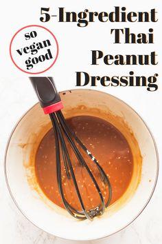 Delicious and Easy Vegetarian Recipes Vegan Foods, Vegan Dishes, Vegan Recipes, Cooking Recipes, Vegan Meals, Yummy Recipes, Yummy Food, Peanut Salad Dressings, Vegan Dressings