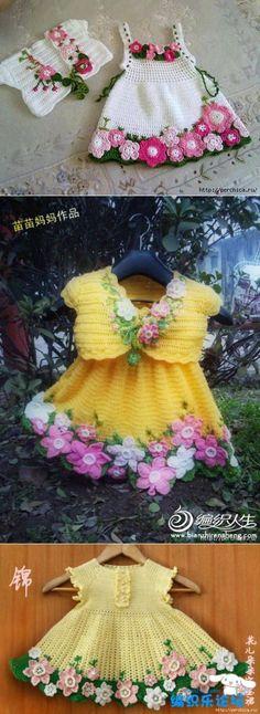 Очаровательное детское платье *Весна* крючком +комплекты с болеро | Вязание | Постила