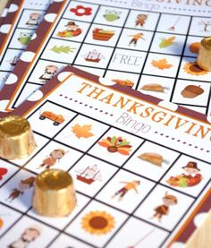 Free Bingo Printable and 31 Thanksgiving Printables on Frugal Coupon LIving.