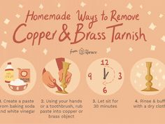Cleaning Pans, Household Cleaning Tips, How To Clean Copper, How To Remove Rust, Homemade Cleaning Products, Natural Cleaning Products, Cleaning Tarnished Silver, Cleaning Silver, How To Polish Brass