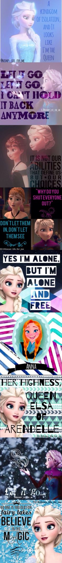 Disney's Frozen Anna and Elsa, quotes, edits by IG @disney_life_for_me