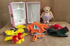 "Muffy VanderBear Trunk clothing lot Pink case 9"" Plush Bear Ballerina NABCO #MuffyNABCO"