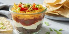 Taco Dip - Better Than Bouillon Potluck Recipes, Healthy Dinner Recipes, Snack Recipes, Snacks, Appetizer Dips, Appetizer Recipes, Mexican Dishes, Mexican Food Recipes, Vegetable Base Recipe