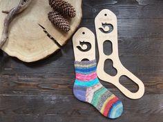 Wooden sock blockers / Fox