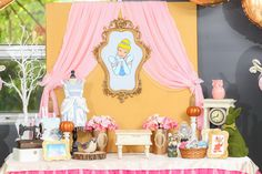 Gorgeous Cinderella Princess dessert table for a girl birthday party!  See more party ideas at CatchMyParty.com!
