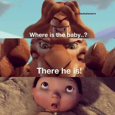 Ice Age. Awww. How I wish they had put Pinka baby's smile too as the 4th pic. Its so sweet ^_^