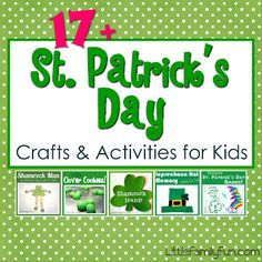 Lots of simple and FUN St. Patrick's Day Crafts & Activities for Kids!