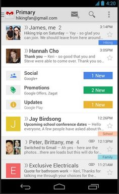 Google refreshes Gmail with new default categories and tabs to organize your e-mail: http://cnet.co/12ONH9d