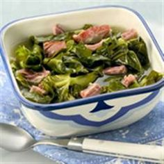 Making this for dinner tonight with steak and potatoes! Southern as You Can Get Collard Greens Allrecipes.com