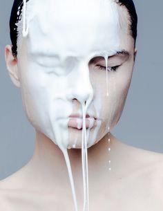 Face it, Paul Jung Dark Photography, People Photography, Portrait Photography, Drip Painting, Body Painting, Paul Jung, Milk Splash, Fashion Photography Inspiration, Face Art