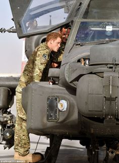 Prince Harry expressing his enthusiasm at being back in Afghanistan to serve as a military helicopter pilot four years after his previous deployment there had to be cut short