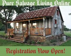 Tiny Texas Houses, made with 99% salvaged materials - www.puresalvageliving.com