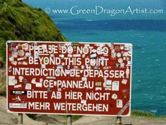 Christy Jackson NicholasBeautiful Ireland Photography  Follow · 8 hours ago     The sign that forbids people to go out past the barrier-safe part of the Cliffs of Moher... not that everyone obeys the sign, of course. And with all the stickers, you can barely read it! Cliffs Of Moher, 8 Hours, Celtic, Past, Ireland, Irish, Jackson, To Go, Sign