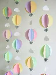 Hot air balloon/explorer baby shower decorations
