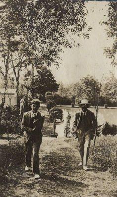 Michael Llewelyn Davies and Lytton Strachey, 1920