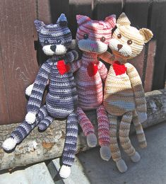 Virkade katter Crochet Teddy, Crochet Fox, Crochet Patterns Amigurumi, Amigurumi Doll, Diy Crochet, Crochet Dolls, Knitting For Kids, Loom Knitting, Craft Free