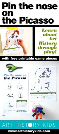 Pin the Nose on the Picasso — Art History Kids