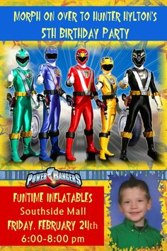 36 Best Power Ranger Party Ideas Images On Pinterest