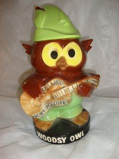 Awesome Vintage Give A Hoot Don't Pollute Woodsy Owl Cookie Jar on Etsy