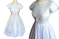 VTG Cotton Batiste Broderie Anglaise Eyelet Full Circle Swing Wedding Bridal Occasion Party Swing Pin Up Bombshell Rockabilly Dress Pin Up Dresses, Dresses For Sale, Fashion Dresses, Dress Sale, Rockabilly, Circle Dress, Power Dressing, Swing Skirt, Eyelet Dress