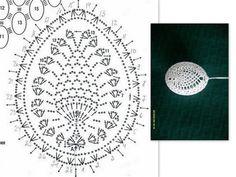 pisanki schematy - Anna S - Picasa Web Albums Crochet Diagram, Crochet Chart, Thread Crochet, Crochet Motif, Crochet Designs, Crochet Doilies, Crochet Stone, Easter Crochet Patterns, Pineapple Crochet
