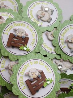 Favor Tags Little Lamb theme Baby Shower Events by DesignsByDVB, $0.80