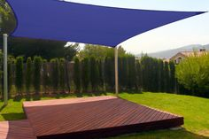 New Premium Clevr Sun Shade Canopy Sail 18' Square UV Outdoor Patio Blue from Crosslinks