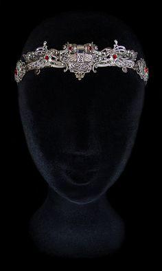 #LADY RUBY STONE BRACELET MEDIEVAL FANTASY PRINCESS DRESS COSTUME ACCESSORY