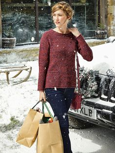 2 colour marl, horizontal pockets, make as cardi Jumpers For Women, Knitwear, Size 12, Bell Sleeve Top, Trousers, Leggings, Skinny, Legs, Fabric
