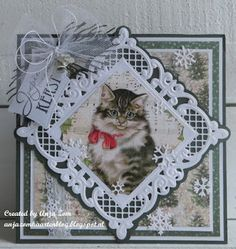 Christmas Time Is Here, Christmas Cats, Marianne Design, Xmas Cards, Cat Toys, Scrapbooks, Dog Cat, Card Making, Design Inspiration