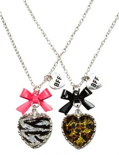 BFF Animal Heart Necklaces