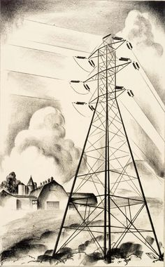Louis Lozowick - Sentinel No.2 (1930)