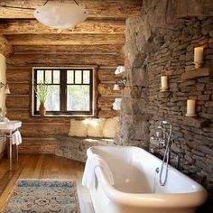 While the sleek, spa-inspired bathrooms are still sought-after, today's consumer wants a blend of the contemporary and the classic – a combination that has revived the popularity of the stone wall.