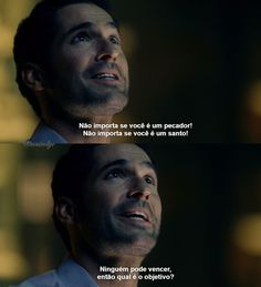 Doce e Travessa — Lucifer - A Priest Walks Into a Bar Lucifer Frases, Poetry Text, Meeting Of The Minds, Tom Ellis Lucifer, Morning Star, Dylan O, Series Movies, Nerd, Greys Anatomy
