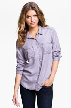 Rubbish Relaxed Menswear Shirt (Juniors) $48.0 by nordstrom