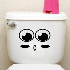 Toilet and wall sticker decorations