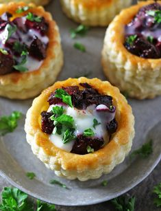 French Goat Cheese and Beet Puff Pastry Bites – Honest Cooking