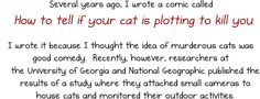 How much do cats actually kill? [Infographic] - The Oatmeal Go to the website for the full story - It's worth it!