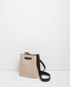 JIL SANDER | Two-Tone Bucket Bag | Shop at La Garçonne