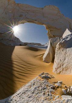 White Desert, Egypt. Unique safari through the pre-historic Oasis