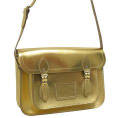 Cambridge Satchel 13 inch leather gold