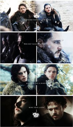 Robb Stark and Jon Snow #GameofThrones #HouseStark #starkandsnow #brothers