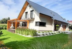 Projekt domu Dom w idaredach Realizacje - ARCHON+ Merlin Home, Backyard Landscaping, Landscape Design, Sweet Home, Exterior, Cabin, House Styles, Home Decor, Gardening
