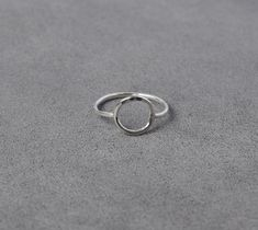 Simple silver ring -  clean lines, and comfortable to boot.